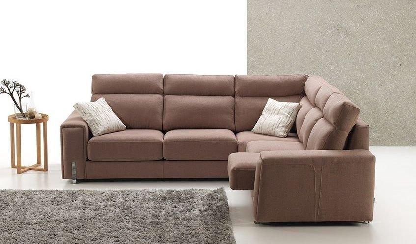 Sofá de tela rinconera 2 plazas