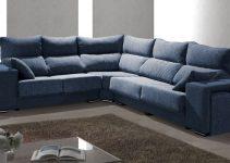 Sofá esquinero a medida con pufs y asientos deslizantes
