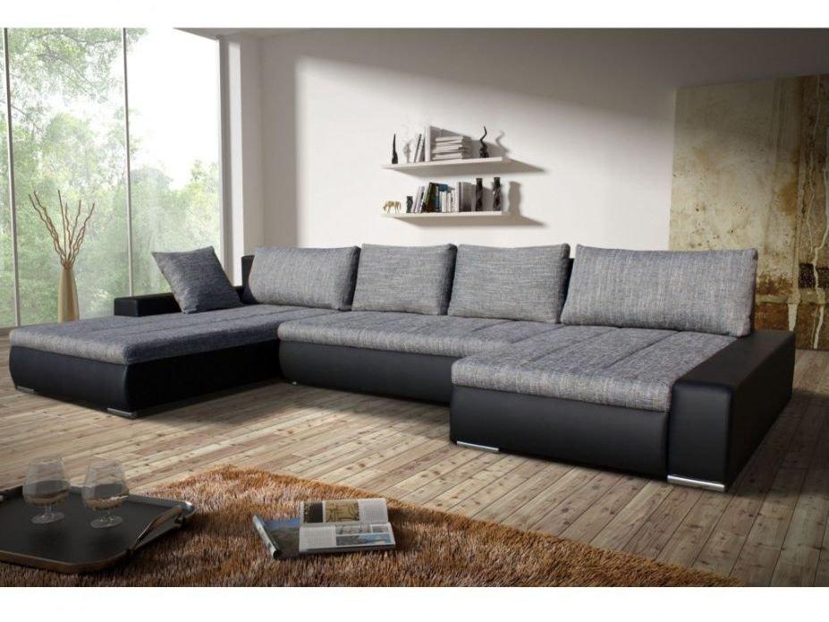 Sofá esquinero con cama bicolor