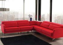 Sofá esquinero rojo suite