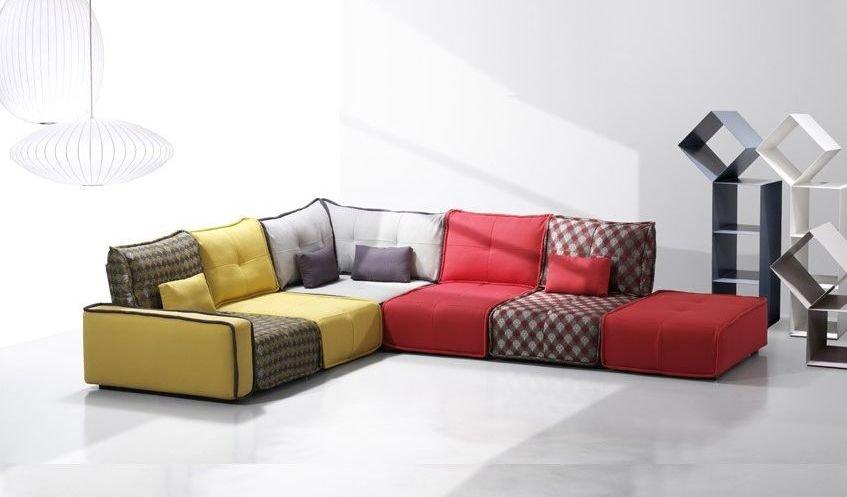 Sofá modular estilo vintage