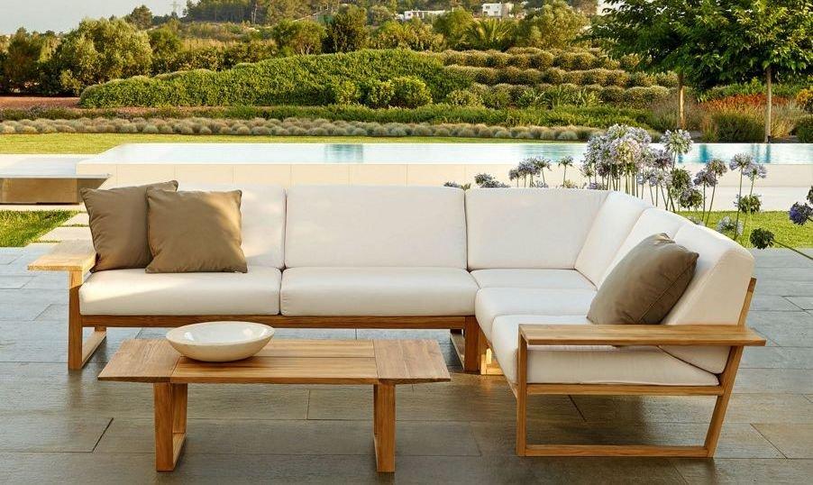 Sofá rinconero de exteriores moderno