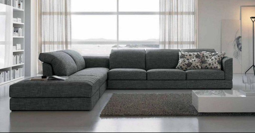 Sof s esquineros de tela for Sofa modular tela
